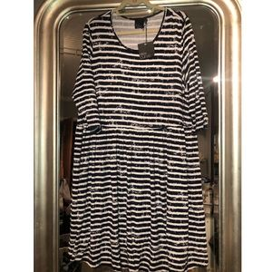 ASOS Curve stripe swing Dress NWT size 20